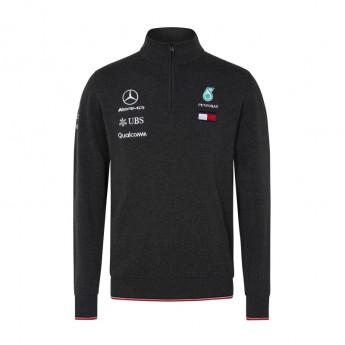 Mercedes AMG Petronas pánská mikina grey Half Zip F1 Team 2018