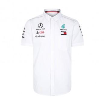 Mercedes AMG Petronas pánská košile white F1 Team 2018