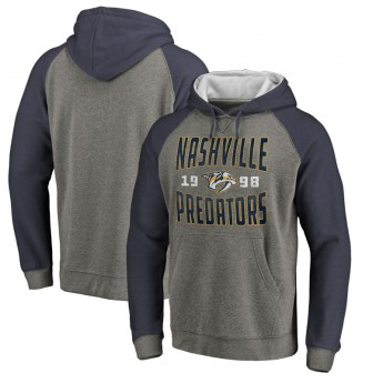 Nashville Predators pánská mikina s kapucí grey Timeless Collection Antique Stack Tri-Blend Raglan