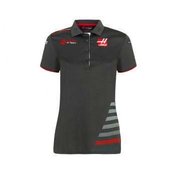 Haas F1 dámské polo tričko grey 2018