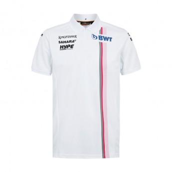 Force India pánské polo tričko white Sahara F1 Team 2018