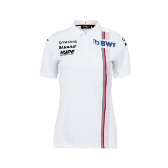 Force India dámské polo tričko white Sahara F1 Team 2018