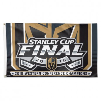 Vegas Golden Knights vlajka 2018 Western Conference Champions On-Ice Flag
