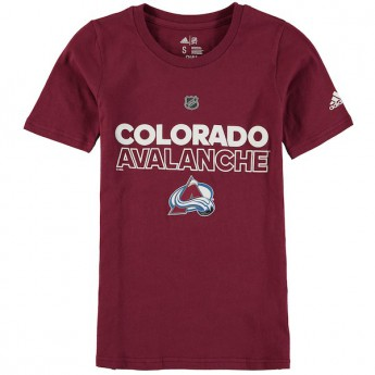 Colorado Avalanche dětské tričko purple Adidas Authentic Ice