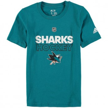 San Jose Sharks dětské tričko blue Adidas Authentic Ice