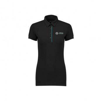 Mercedes AMG Petronas dámské polo tričko black Classic F1 Team 2018