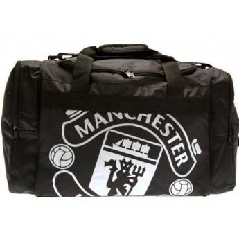 Manchester United sportovní taška black big white logo