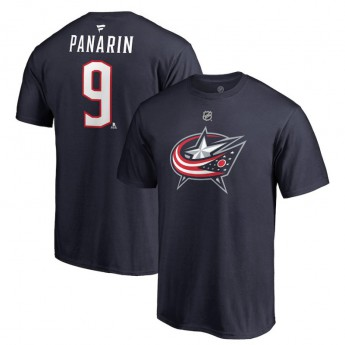 Columbus Blue Jackets pánské tričko grey #9 Artemi Panarin Stack Logo Name & Number