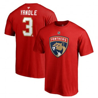 Florida Panthers pánské tričko red #3 Keith Yandle Stack Logo Name & Number