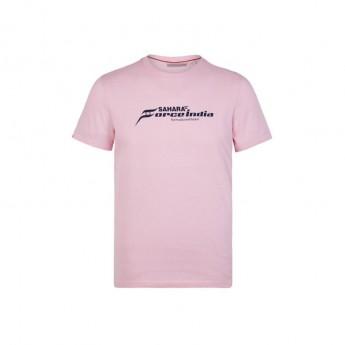 Force India pánské tričko pink Logo Sahara F1 Team 2018