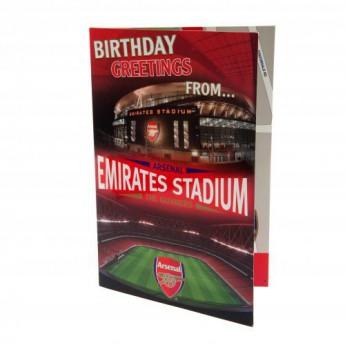 FC Arsenal narozeninové přání Pop-Up Birthday Card
