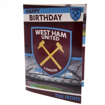 West Ham United narozeninové přání Musical Birthday Card