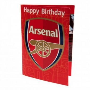 FC Arsenal narozeninové přání Musical Birthday Card