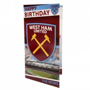 West Ham United narozeninové přání Birthday Card