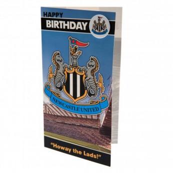 Newcastle United narozeninové přání Birthday Card & Badge