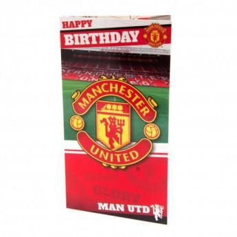 Manchester United narozeninové přání Birthday Card Stadium