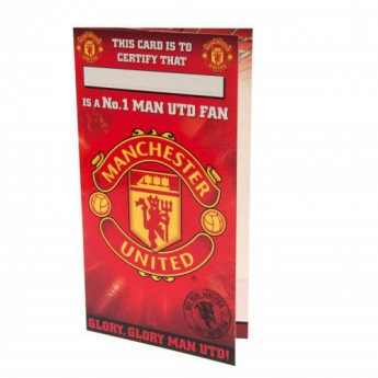 Manchester United narozeninové přání Birthday Card No 1 Fan