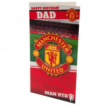 Manchester United narozeninové přání Birthday Card Dad
