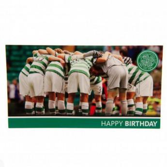 FC Celtic narozeninové přání Birthday Card Huddle