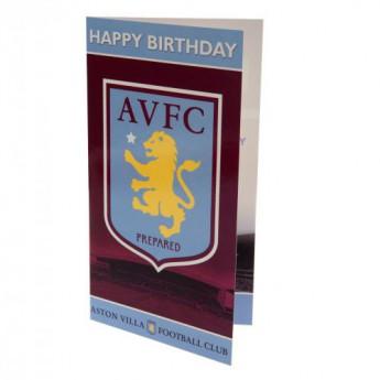 Aston Villa narozeninové přání Birthday Card