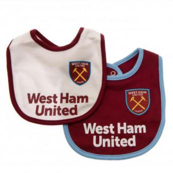 West Ham United dětský bryndák 2 Pack Bibs