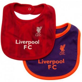 FC Liverpool dětský bryndák 2 Pack Bibs NR