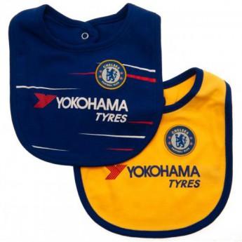 FC Chelsea dětský bryndák 2 Pack Bibs NR