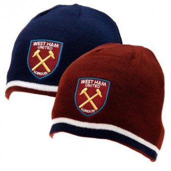 West Ham United zimní kulich Reversible Knitted