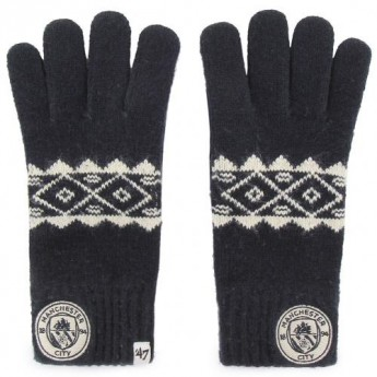 Manchester City pánské rukavice Knitted Gloves Adult Fairisle
