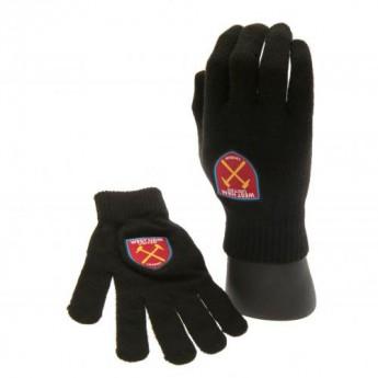 West Ham United dětské rukavice Knitted Gloves Junior