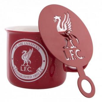 FC Liverpool hrníček Mug and Stencil Set