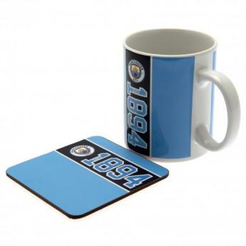 Manchester City hrníček Mug and Coaster Set