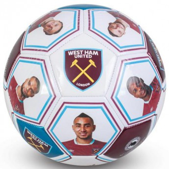 West Ham United podepsaný míč Photo Signature Football