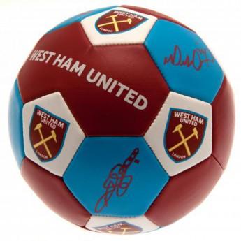 West Ham United fotbalový míč Nuskin Football Size 3