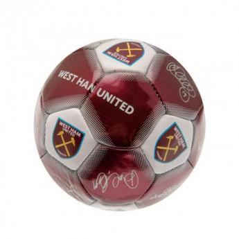 West Ham United podepsaný míč Mini Ball Signature