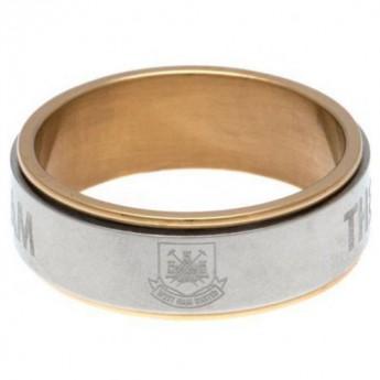 West Ham United prsten Bi Colour Spinner Ring Large CT
