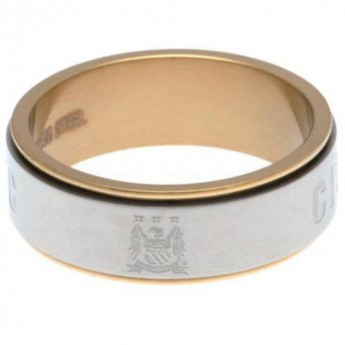 Manchester City prsten Bi Colour Spinner Ring Large EC