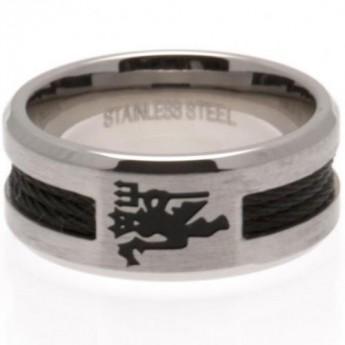 Manchester United prsten Black Inlay Large