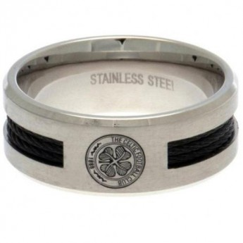 FC Celtic prsten Black Inlay Small