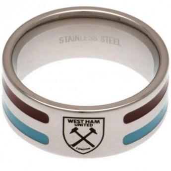 West Ham United prsten Colour Stripe Ring Large