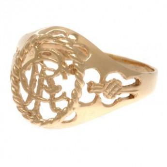 FC Rangers prsten 9ct Gold Crest Large