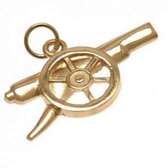 FC Arsenal zlatý přívěšek 9ct Gold Pendant Cannon