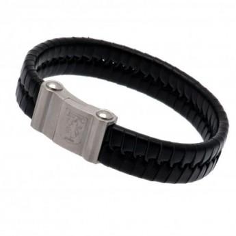 Aston Villa kožený náramek Single Plait Leather Bracelet