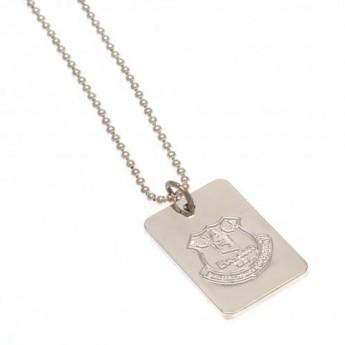 FC Everton řetízek na krk se psí známkou Silver Plated Dog Tag & Chain