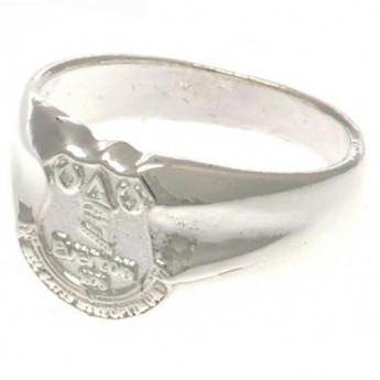 FC Everton prsten Silver Plated Crest Ring Small