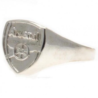 FC Arsenal prsten Silver Plated Crest Large