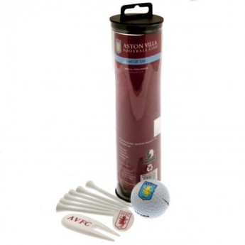 Aston Villa golfový set Golf Gift Tube