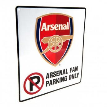 FC Arsenal kovová značka No Parking Sign
