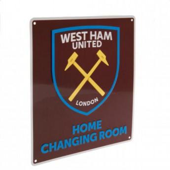 West Ham United kovová značka Home Changing Room Sign