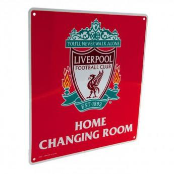 FC Liverpool kovová značka Home Changing Room Sign